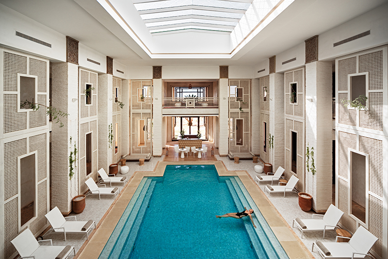 The Clarins Spa at Royal Palm Hotel, Beachcomber Hotels, Photo by Alan Keohane www.still-images.net