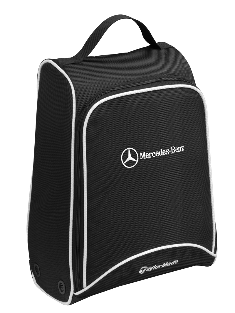 Schuhtasche Golf, schwarz. Von TaylorMade für Mercedes-Benz Golf shoe bag, black. By TaylorMade for Mercedes-Benz