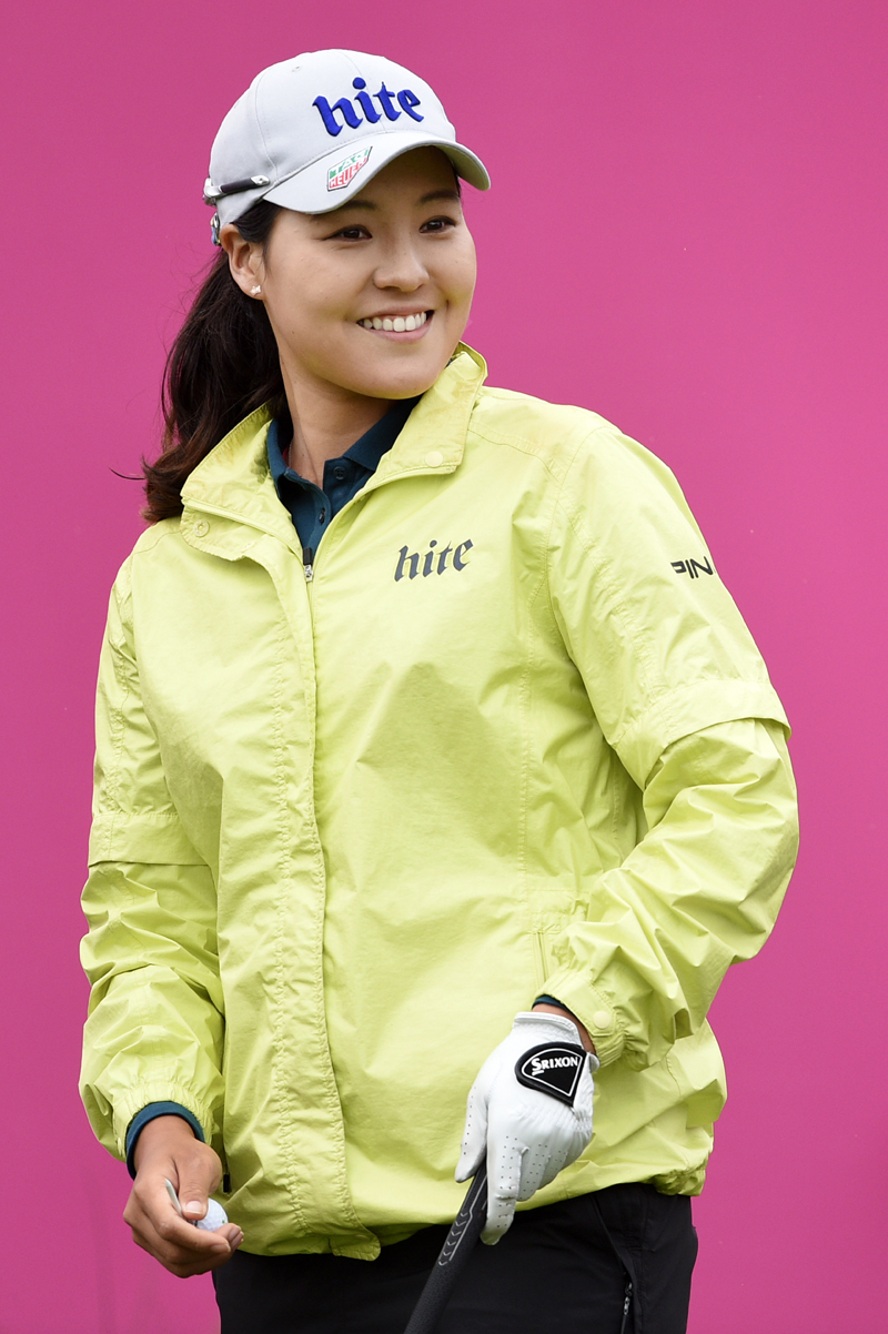 Korea's In Gee Chun reacts during the third round of LPGA Evian Championship 2016, day 6, at Evian Resort Golf Club, in Evian-Les-Bains, France, on September 17, 2016. Photo Philippe Millereau / KMSP / DPPI