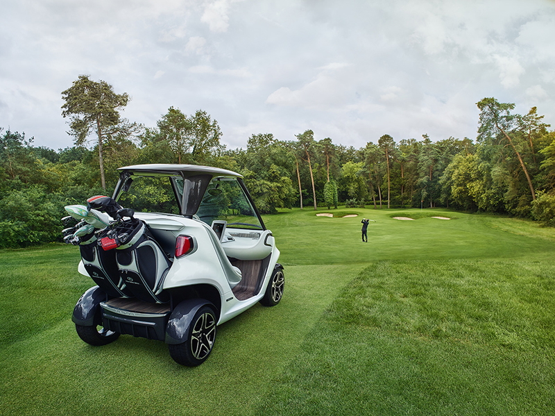 Das Mercedes-Benz Style Edition Garia Golf Car (Show Car) feiert Weltpremiere ; World Premiere of the Mercedes-Benz Style Edition Garia Golf Car (Show Car);